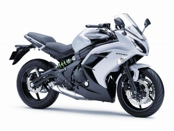 2015 Kawasaki ER6f white