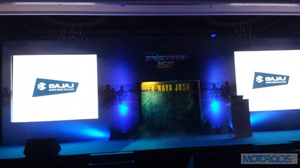 Bajaj-Discover-150S-150F-Launch-Motoroids-Center-Stage-Prepared