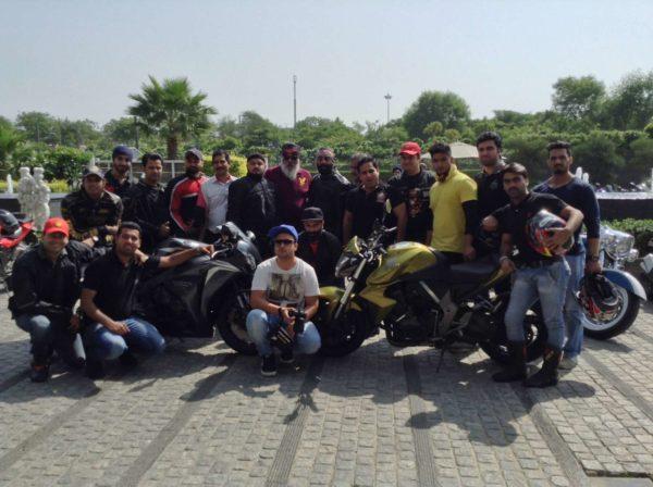 Honda Big Bike Ride- Black Pistons Super Bikers Club