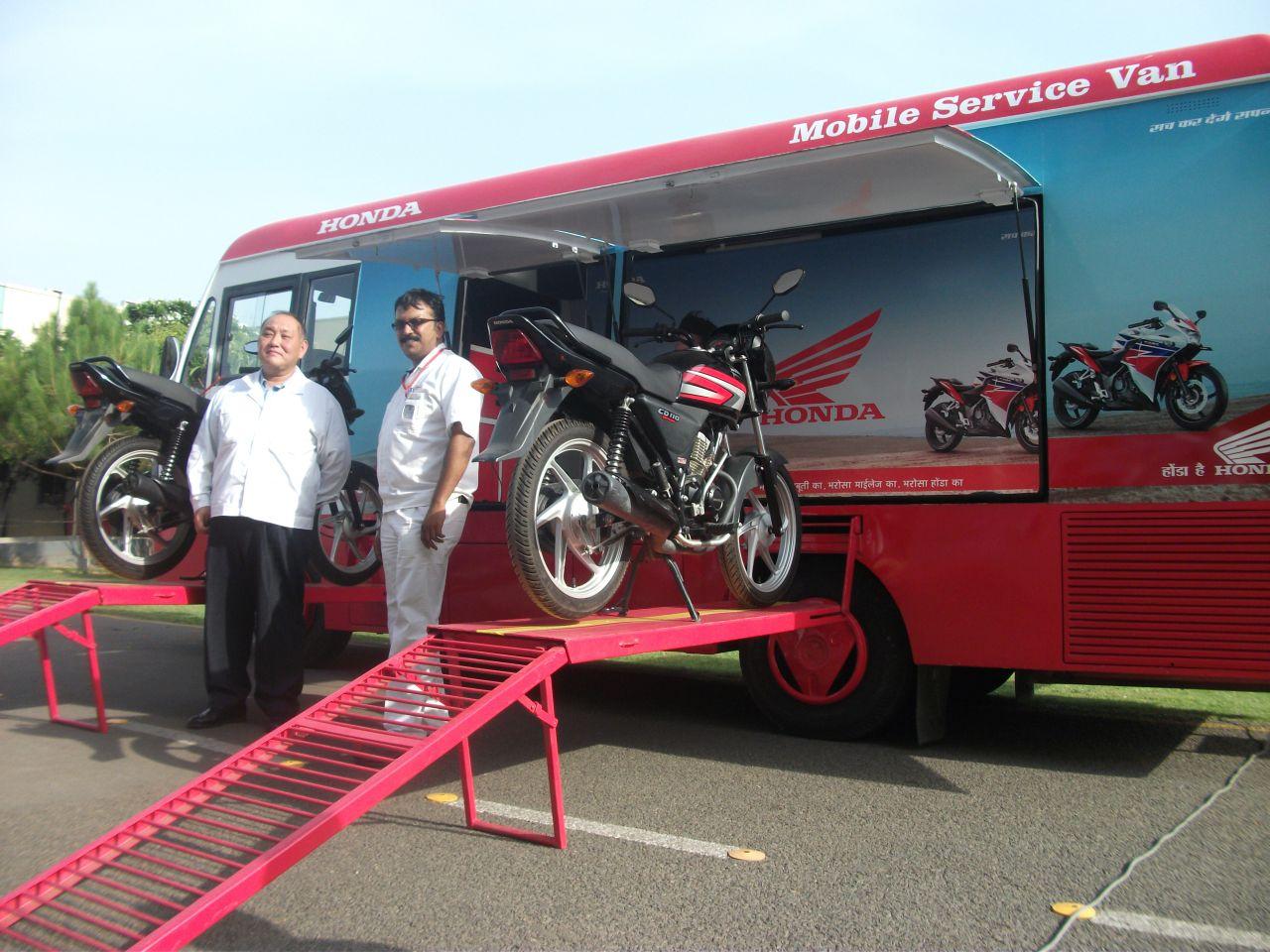 Honda launches mobile service van initiative to tap rural for Honda auto service