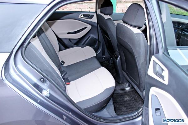 Hyundai Elite i20 back seat