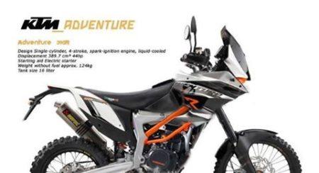 KTM 390 Adventure Rendered