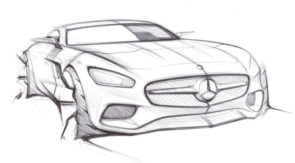 mercedes benz amg gt previewed through sketches