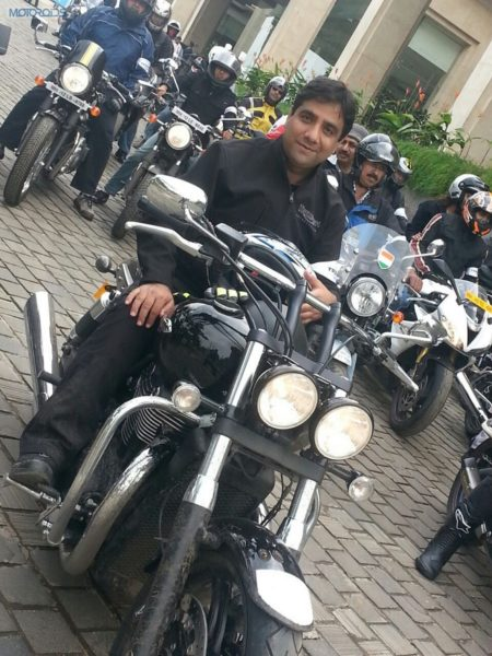Mr. Vimal Sumbly, MD, Triumph Motorcycles India, with the RAT's in Pune