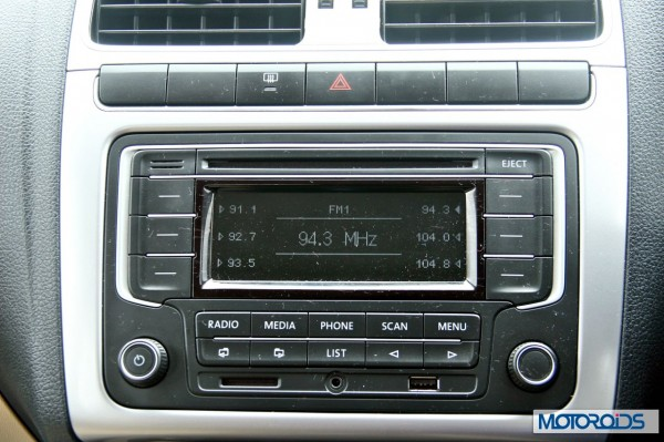 New 2014 Volkswagen Polo 1.5 TDI Audio System