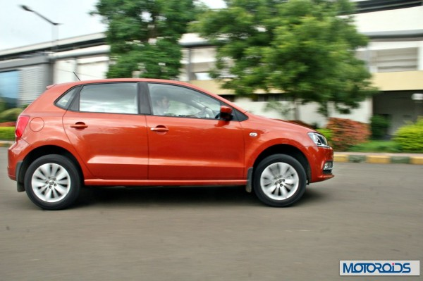 New 2014 Volkswagen Polo 1.5 TDI cornering right 1