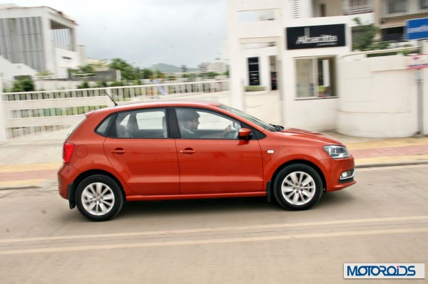 New 2014 Volkswagen Polo 1.5 TDI side profile 2