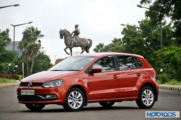 New 2014 Volkswagen Polo 1.5 TDI with Shivaji in background