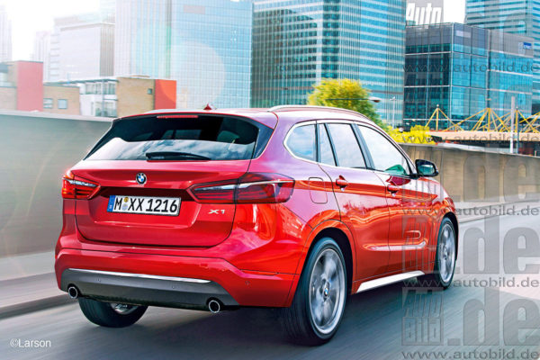 Next-Gen BMW X1 Rear Rendered