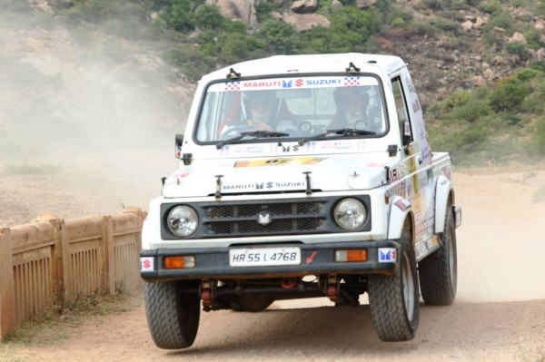 Suresh Rana racing away to the third position