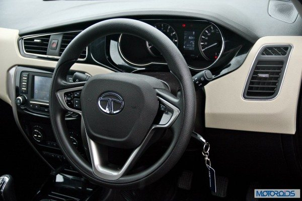 Tata-Zest-Launched-Revotron-interior-Multi-function-steering