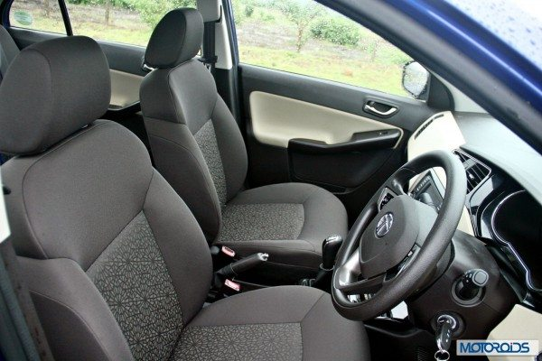 Tata Zest Launched Revotron Interior Driver Seat on Abs System Explained