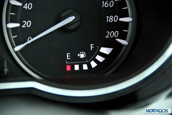 Tata-Zest-Launched-Revotron-interior-fuel-gauge