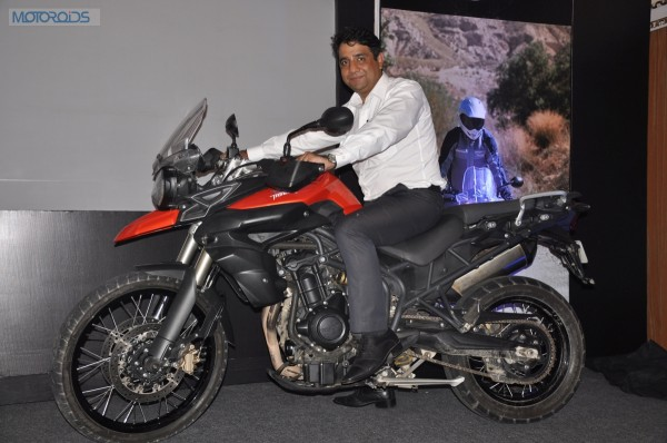 Vimal Sumbly, MD, Triump Motorcycles India on the Tiger 800 XC