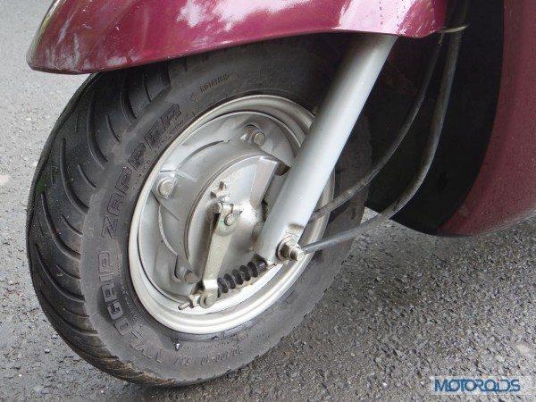 Yamaha-Alpha-Review-Front-Wheel-Suspension-Brake