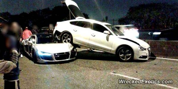 audi r8 and a7 crash (1)