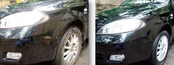 black car exterior detailed