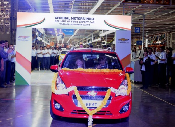 First Chevrolet vehicle to be exported from India