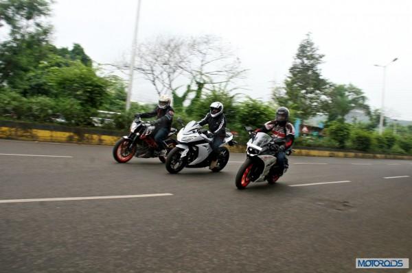 KTM RC390 vs Kawasaki Ninja 300 vs KTM Duke 390 (118)