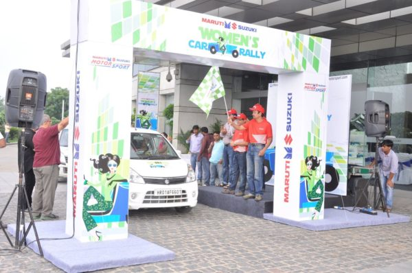 Maruti Suzuki women car rally in New Delhi 1