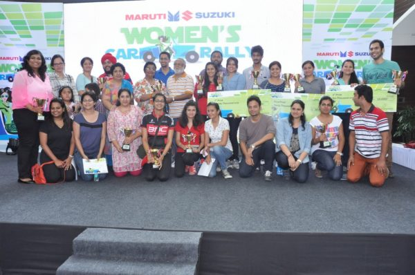 Maruti Suzuki women car rally in New Delhi 2