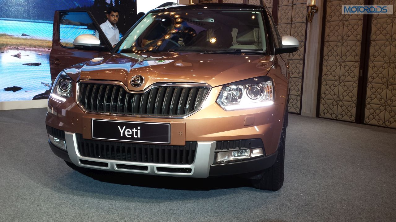 new 2014 skoda yeti from the launch live motoroids. Black Bedroom Furniture Sets. Home Design Ideas
