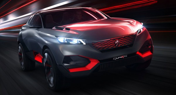 Peugeot Quartz Hybrid Crossover Concept Images and Details (2)