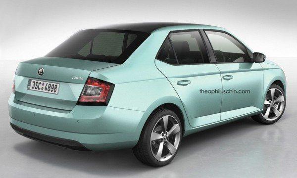 Skoda Fabia Sedan Rendered- makes terrific sense for India (2)