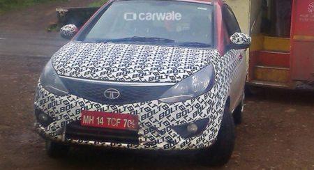 Tata Bolt with orange dashboard inserts spied (2)