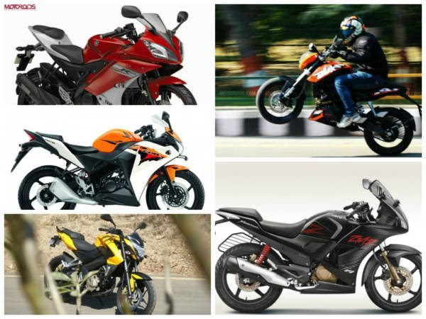 Top 5 performance motorcycles under 1.5 lakh