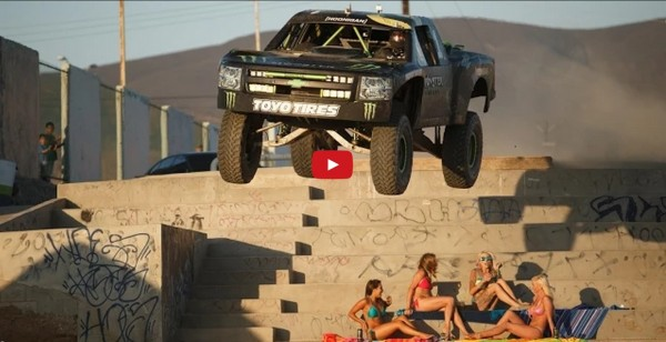 Video Watch a Baja champ play with his Monster trophy truck