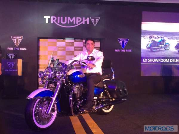 Vimal Sumbly Triumph India on Thunderbird LT