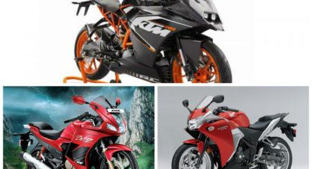 KTM RC200 vs Honda CBR250R vs Hero Karizma ZMR: Tech Specs and Features compared