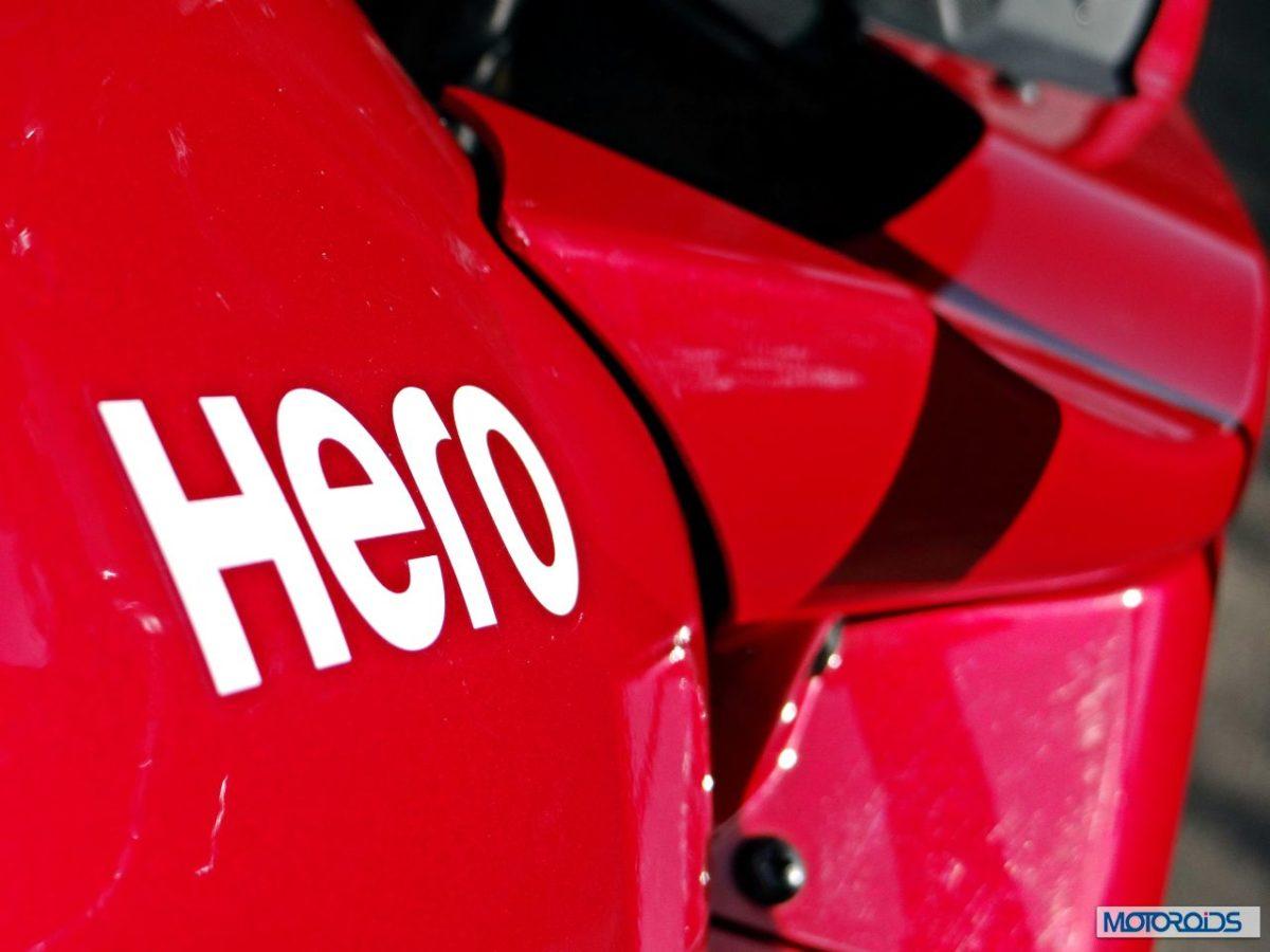 2014 Hero MotoCorp Karizma ZMR Review Hero Logo on Tank