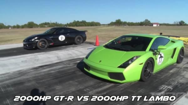 AMS Nissan GT-R vs Lamborghini Gallardo