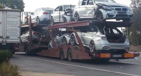 Damaged BMW M3s spotted after Mission Impossible 5 filming (1)