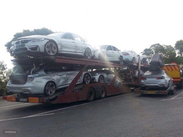 Damaged BMW M3s spotted after Mission Impossible 5 filming (2)