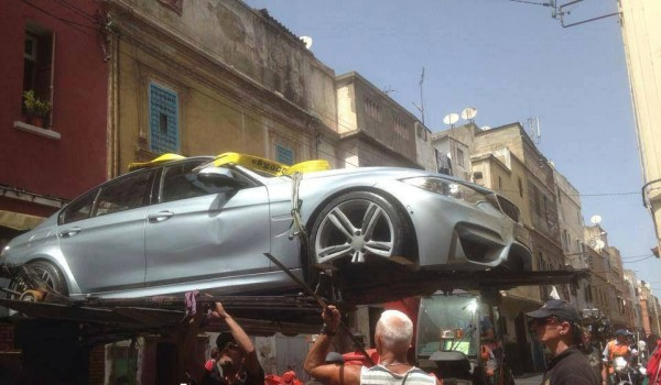 Damaged BMW M3s spotted after Mission Impossible 5 filming (3)