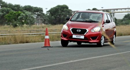Datsun GO real-live driving experience: Entry level hatch reviewed on test track