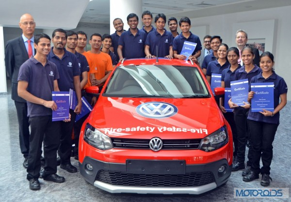 First batch of pass outs from the Volkswagen India Mechatronics Apprenticeship Programme