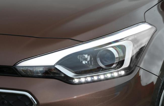 Spied Daytime Running Lights On Hyundai S Elite I20 Cross