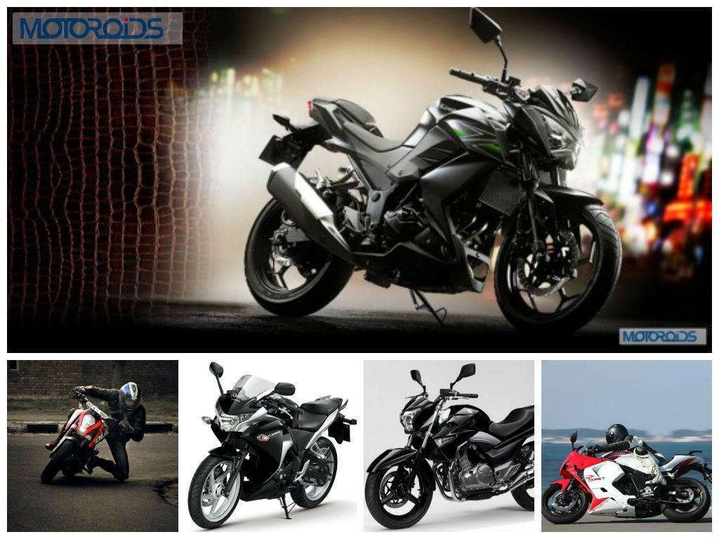 Kawasaki Z250 Vs Ktm Duke 200 Vs Honda Cbr250r Vs Suzuki Inazuma Vs