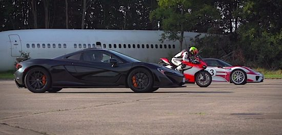 Ducati 1199 Superleggera goes head-to-head with McLaren P1 and Porsche 918 Spyder
