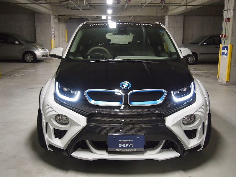 this modified bmw i3 evo from japan looks lethal motoroids. Black Bedroom Furniture Sets. Home Design Ideas