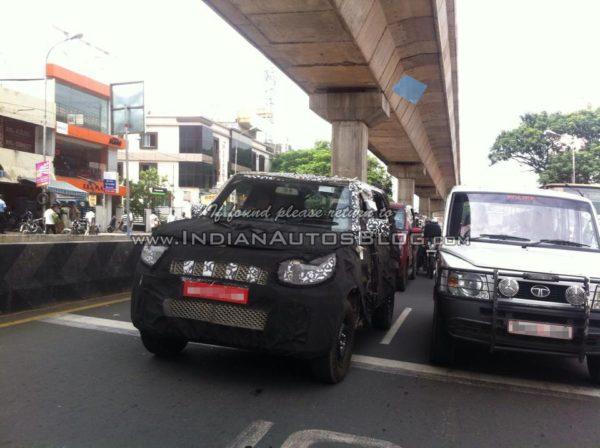 New-Mahindra-U301-Bolero-spied-front