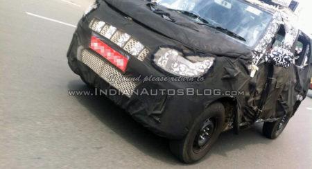 New-Mahindra-U301-Bolero-spied-front-quarter