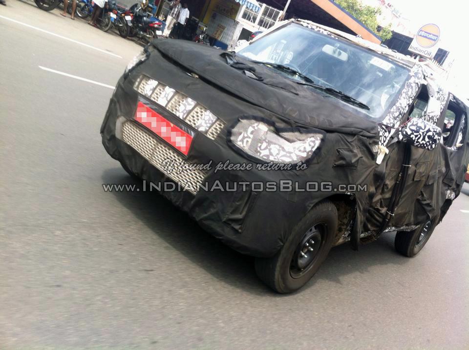 Spied Upcoming Mahindra Bolero U301 Caught Testing In