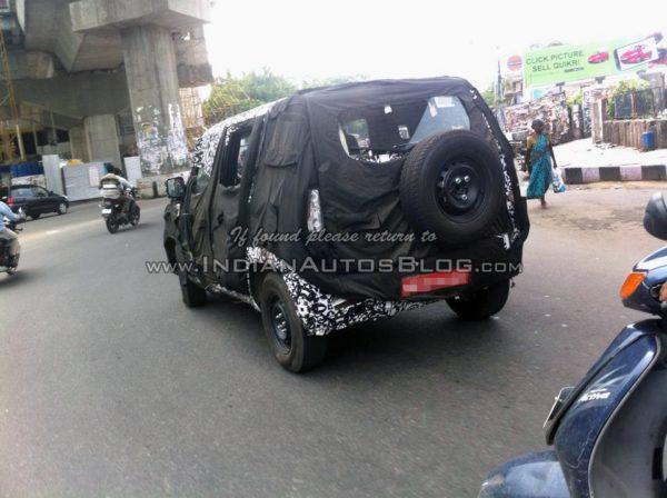 New-Mahindra-U301-Bolero-spied-rear