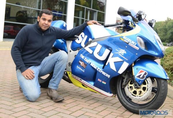Sushanth Shetty with his Suzuki Hayabusa