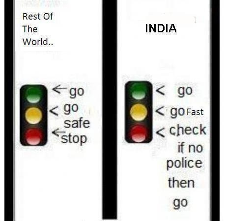 Traffic light in india